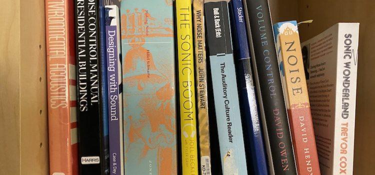 A photo of books on a shelf